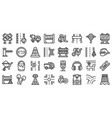 highway construction icons set outline style vector image vector image