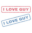 i love guy textile stamps vector image vector image