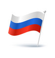icon of a russian flag vector image vector image
