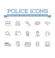 icons set of police related vector image