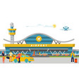 international and domestic airport concept banner vector image vector image