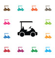 isolated golf cart icon sport element can vector image