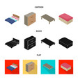 isolated object of bedroom and room icon set of vector image vector image