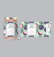 label packaging jar marmalade pattern mangosteen vector image vector image