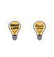 light bulb have idea lightbulb banner lettering vector image