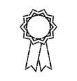 medal award ribbon vector image vector image