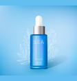 moisturizing cosmetics ads template vector image