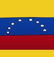 national flag of venezuela vector image vector image