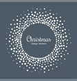 new year 2019 card background snow christmas frame vector image