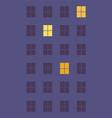 night windows of multi-storey building lights vector image