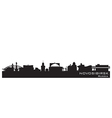Novosibirsk Russia city skyline Detailed silhouett vector image vector image