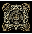 Ornament gold card with mandala vector image