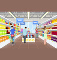 people at the supermarket on vector image vector image