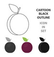 plum icon cartoon singe fruit icon vector image vector image