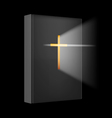 Realistic Bible vector image
