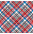 red blue fabric texture check plaid seamless vector image vector image