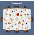 Restaurant Table Top View vector image vector image