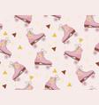 retro roller skates pattern modern trendy hipster vector image vector image