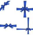 Ribbon with blue bow on a white background EPS 10 vector image