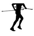 runner skyrunner with poles running vector image vector image