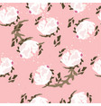 seamless pattern peony vector image