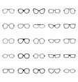 set glasses and sunglasses vector image