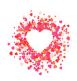 set heart abstract love vector image