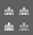 set of church icon isolated on dark background vector image