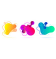 set of colorful gradient vector image