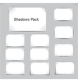 shadows pack vector image vector image