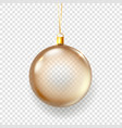 shining glass christmas bauble isolated on vector image