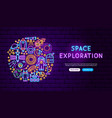 space exploration neon banner design vector image