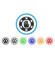 stop gambling chip icon vector image