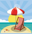 summer beach design in the seashore with beach vector image