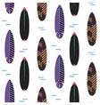 surfboard seamless pattern black vector image vector image