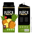 Template Packaging Design Pineapple Juice vector image vector image