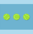 tennis ball icon flat design with shadow vector image vector image