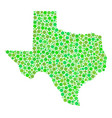 texas map collage of circles vector image