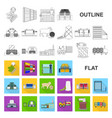 textile industry flat icons in set collection for vector image