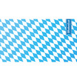 traditional oktoberfest rhombus blue and white vector image