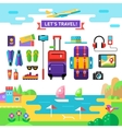 Traveling template Vocations accessories Flat vector image vector image
