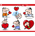 Valentines day themes cartoon vector | Price: 1 Credit (USD $1)