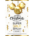 white luxury christmas sale background with golden vector image vector image