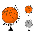 World basketball Globe ball game Sports accessory vector image