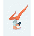 young girl or woman is doing yoga vector image