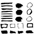 Grunge Paint Watercolor Ink Texture Elements Set vector image