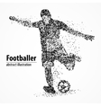 abstraction football athlete vector image