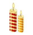 Christmas candle icon cartoon style vector image
