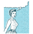 Retro Woman Art vector image
