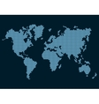 World Map Dotted on Dark Background vector image